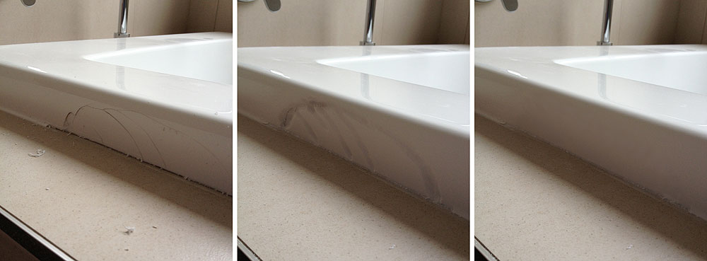 vanity basin repair