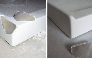 shower base crack